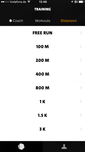 Freeletics Running Distanzen