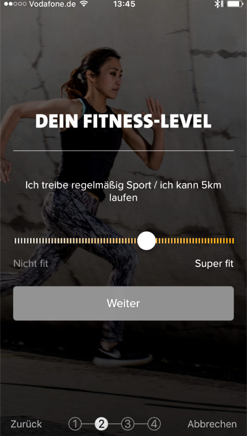 Freeletics Running Fitnesslevel Test
