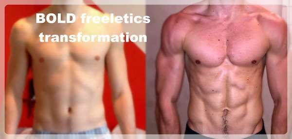 Freeletics Transformation Lukas Witzani