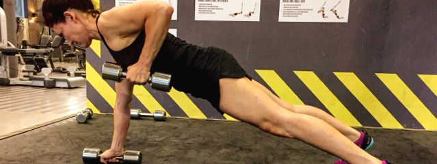 six pack workout for great abs plank row