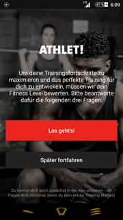 Freeletics Gym Coach Fitnesstest Einleitung