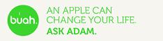 BUAH - an apple can change your life. Aks Adam
