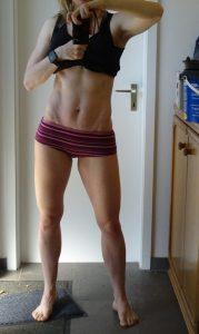 Denise Bernard, nach der Ernährungsumstellung, Vorderansicht