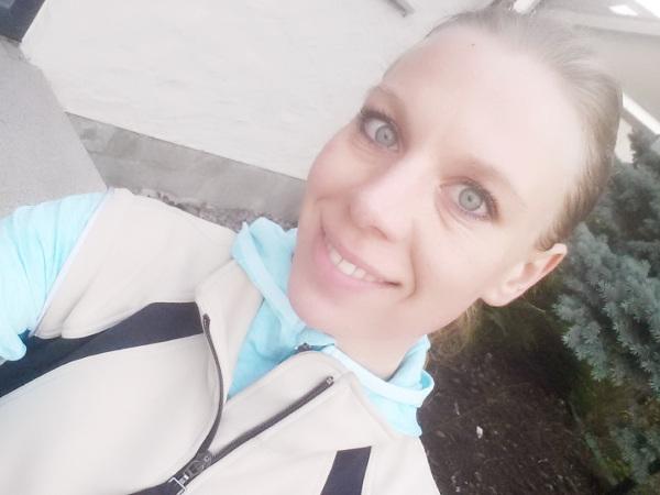 Denise Bernard vor dem Lauf