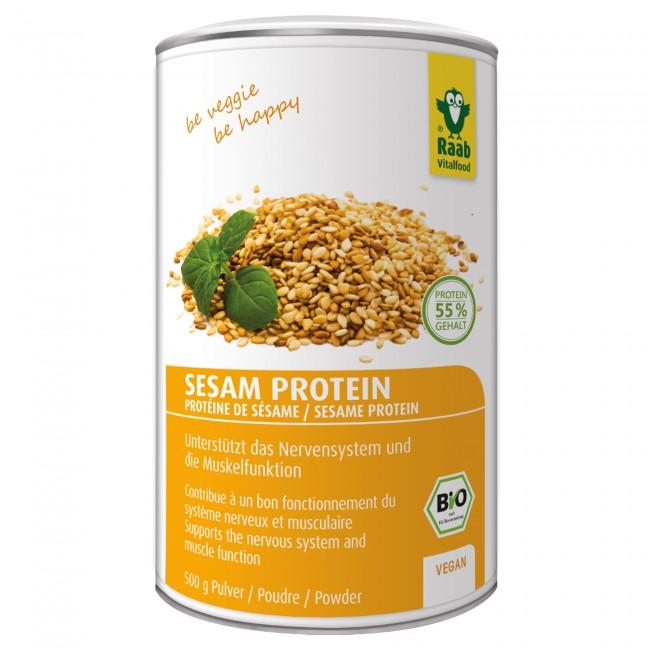 veganes proteinpulver test sesamprotein