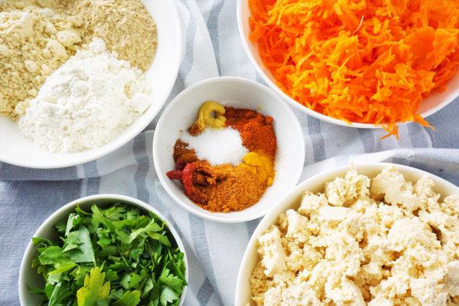 Meal Prep Rezepte Tofu-Scramble Zutaten