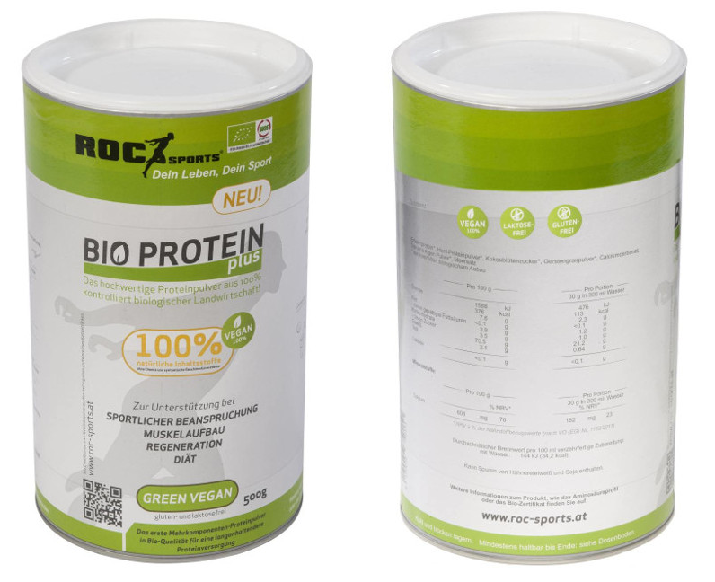 roc-sports bio proteinpulver green vegan im Test