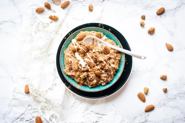 One Pot Rezepte - Maulbeeren Feigen Mandel Porridge
