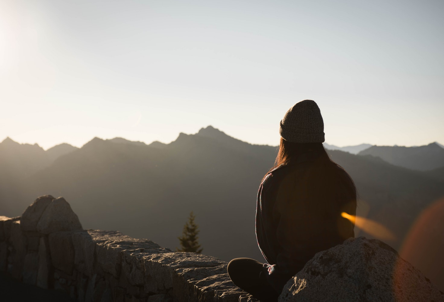 Meditieren auf dem Berg