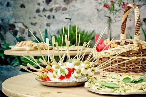 Rohkost Rezepte: Partysnacks Gemüsespieße