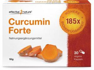 Das Produkt Curcumin Forte von Effective Nature ist 185-mal besser bioverfügbar, als herkömmliches Kurkuma-Pulver.