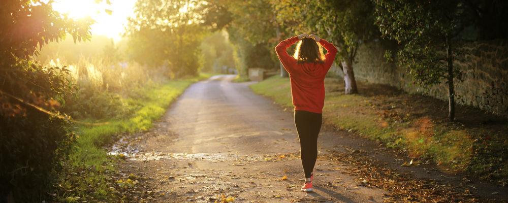Joggerin im Park Grundsätze für ein besseres Leben