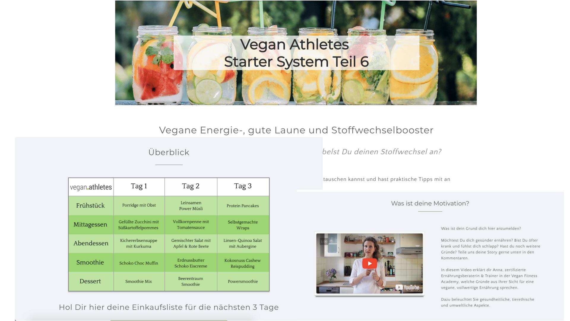 Vegan Starter System Ausschnitte