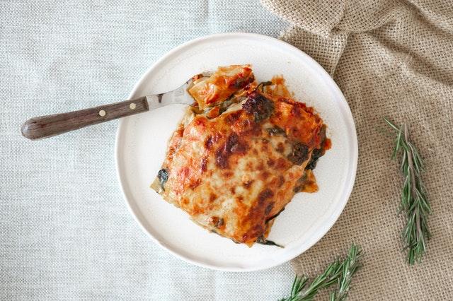 Spinat gesund vegane lasagne