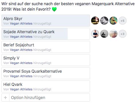 Vegane Magerquark Alternativen-umfrage