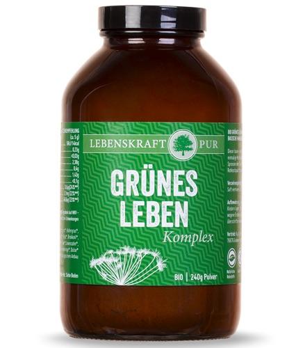 Superfood Pulver Lebenskraftpur Grünes Leben