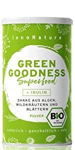 InnoNature Green Goodness Superfood Shake Bio
