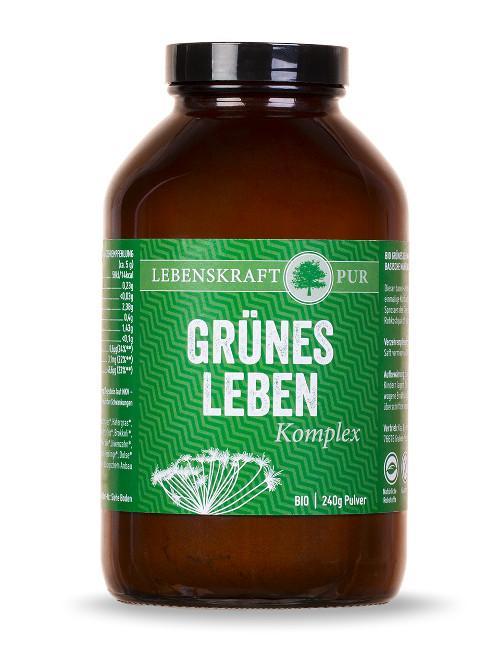 Supergreen Pulver Lebenskraftpur Grünes Leben Supergreen Pulver