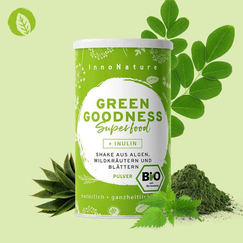Supergreen Pulver Green Goodness Superfood Innonature