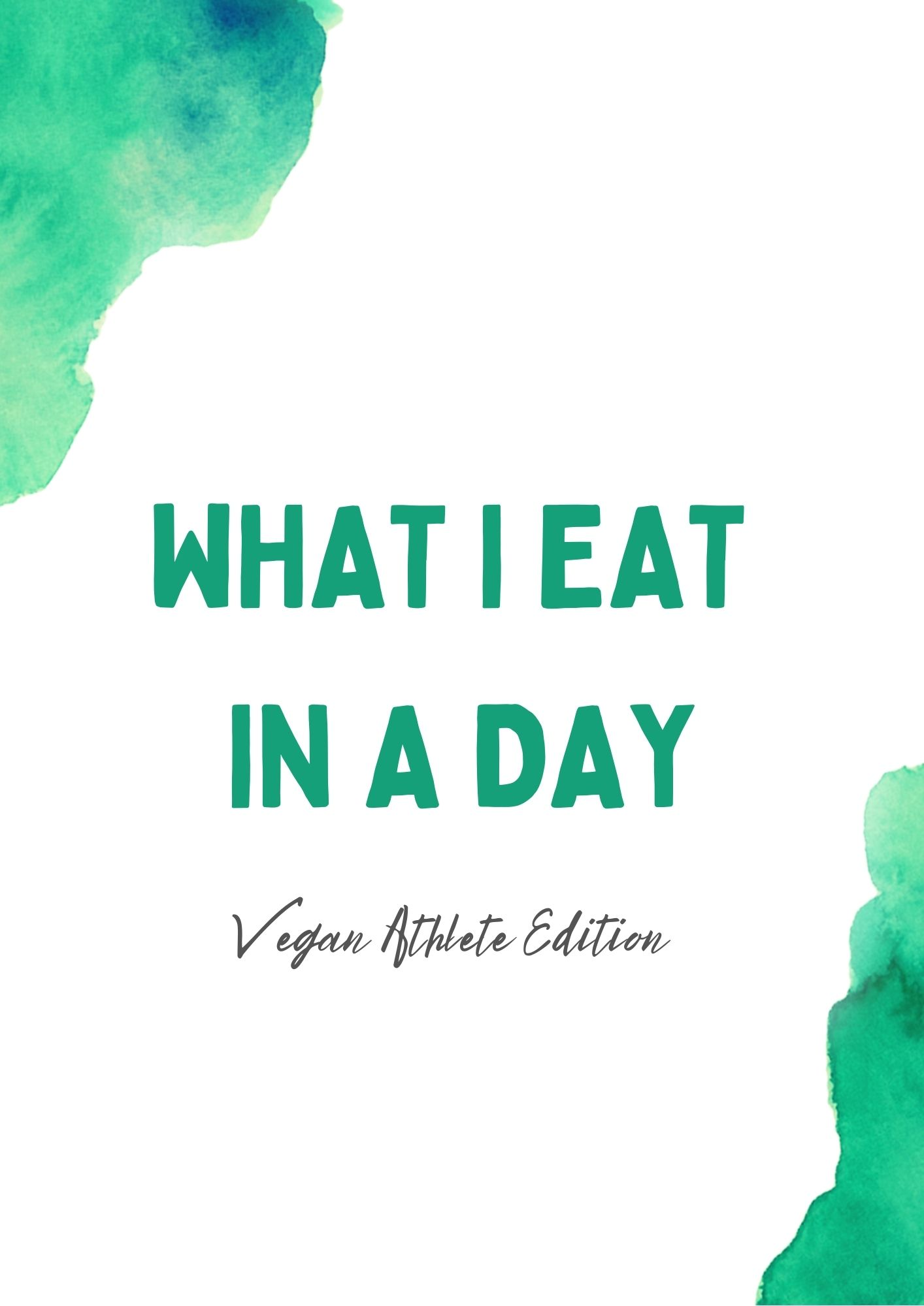 What I Eat in a day Ernährungsplan