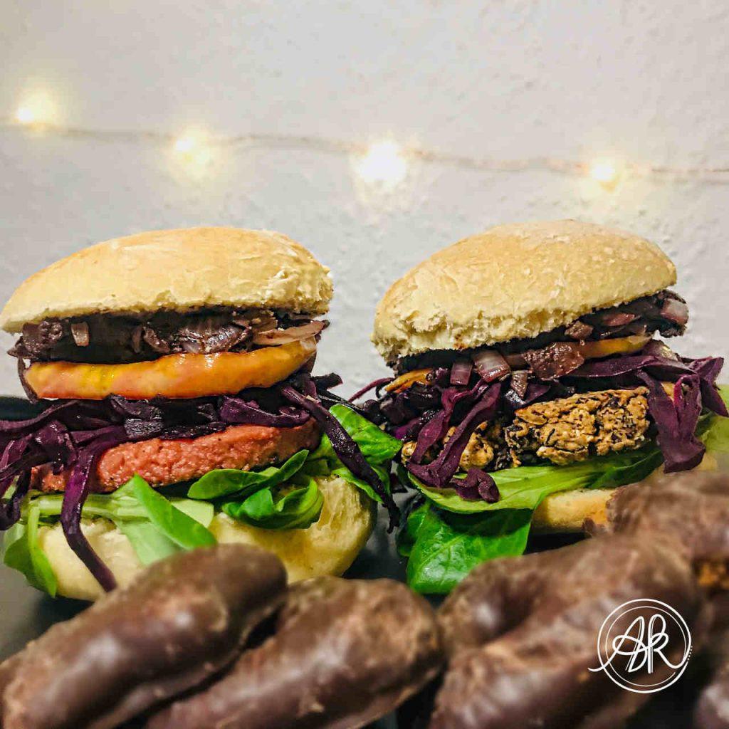 vegane Weihnachtsrezepte veganer Winterburger
