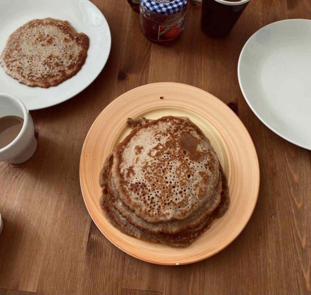Sprossenmehl dinkelmehl pancake